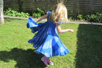 Peppermint Swirl Dress Blue