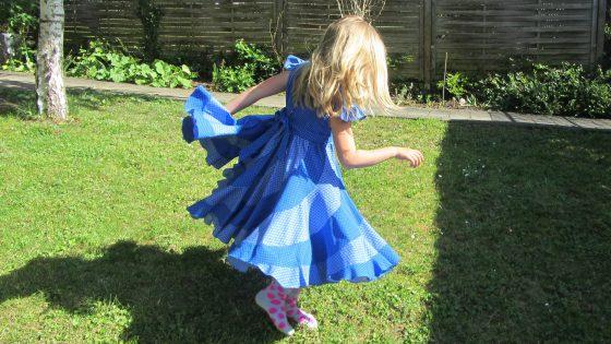 Peppermint Swirl Dress Blue