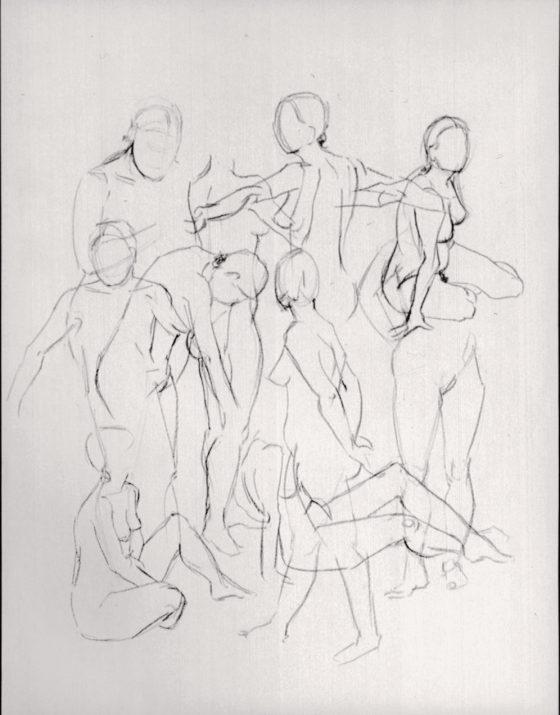 Zeichnungen Studienzeit