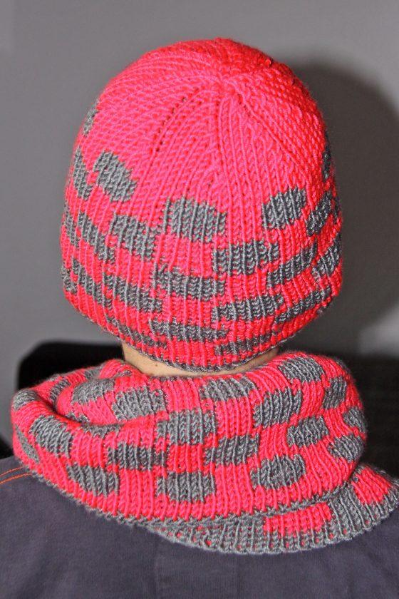 Doubleface Mütze und Loop Punkte