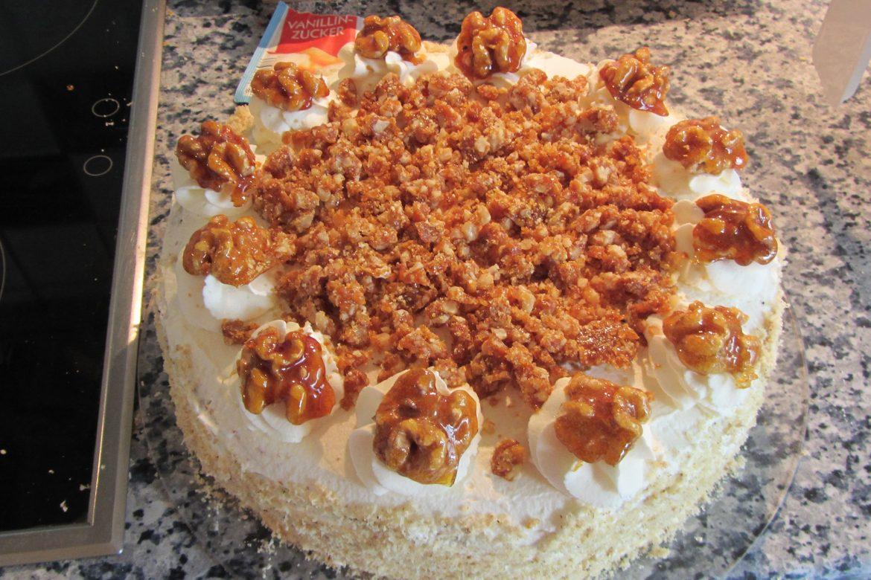 Walnusskaramell-Torte