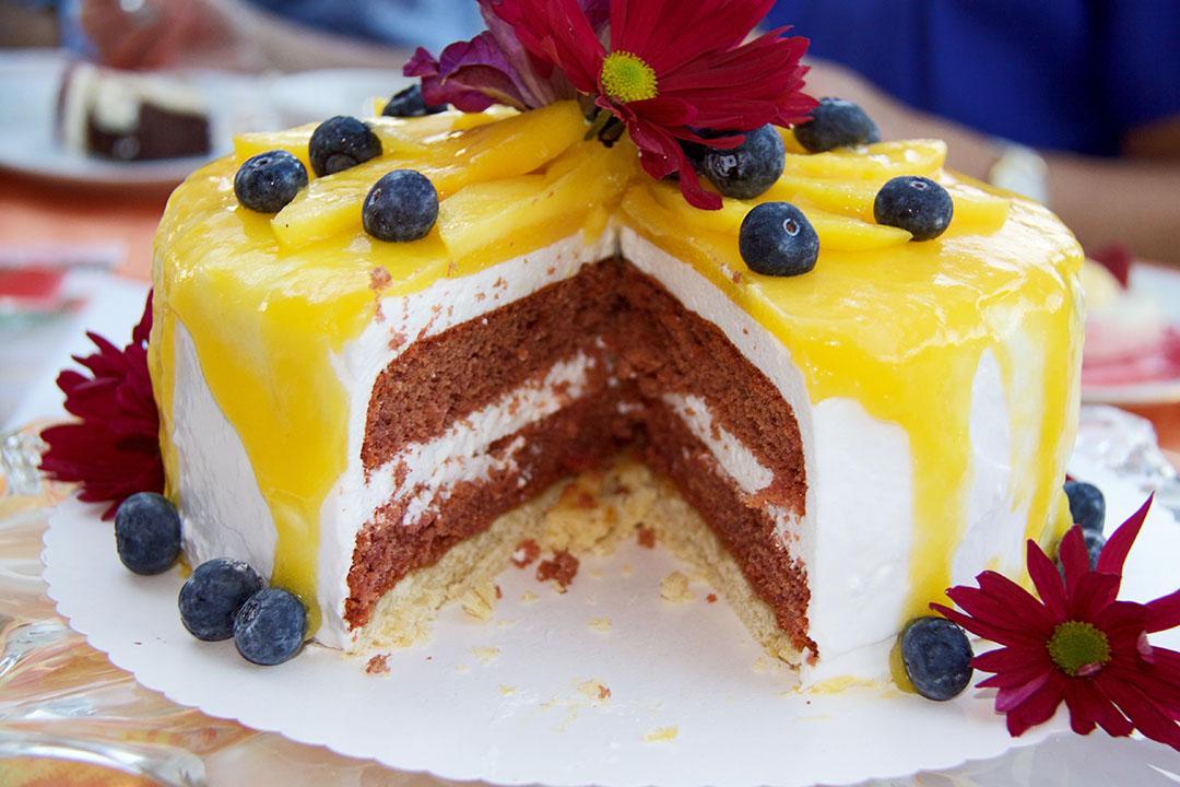 Mango-Marshmallow-Torte